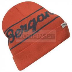 Шапка Bergans Logo Beanie, Brick/Orion Blue
