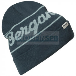 Шапка Bergans Logo Beanie, Orion Blue/Misty Forest