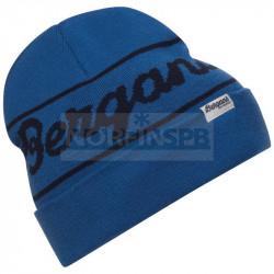 Шапка Bergans Logo Beanie, Strong Blue/Navy Blue