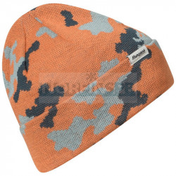 Шапка Bergans Camouflage Beanie, Cantaloupe/Orion Blue/Misty Forest