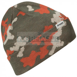 Шапка Bergans Camouflage Beanie, Green Mud/Chalk Sand/Brick