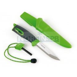 Нож для выживания c огнивом Light My Fire Swedish FireKnife (Mora), зеленый