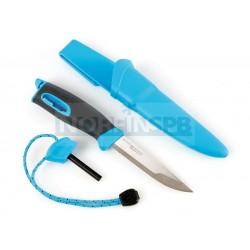 Нож для выживания c огнивом Light My Fire Swedish FireKnife (Mora), голубой