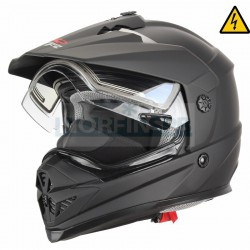 Снегоходный шлем XTR, с электростеклом DSE1 черный матовый