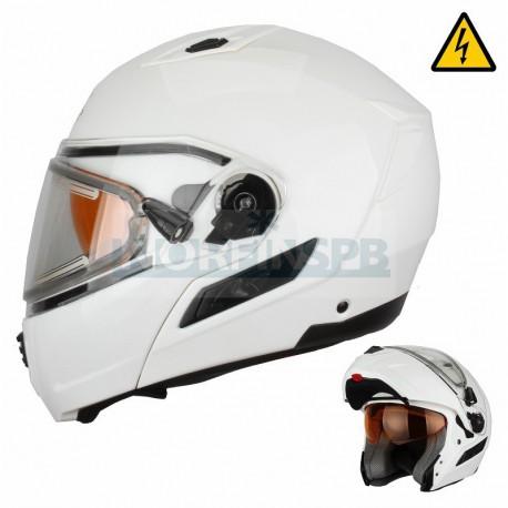 Снегоходный шлем XTR, модуляр с электростеклом MODE1 белый