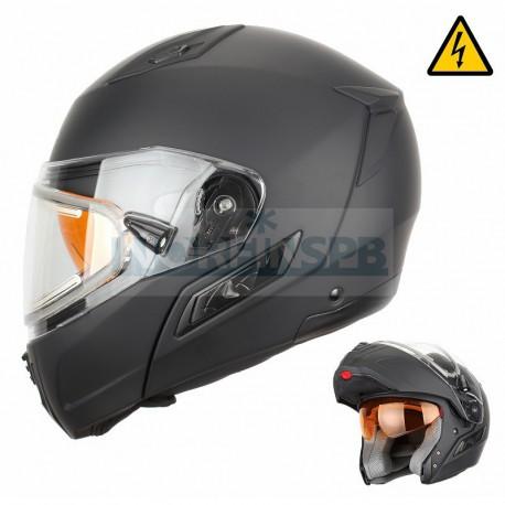Снегоходный шлем XTR модуляр с электростеклом MODE1 черный матовый