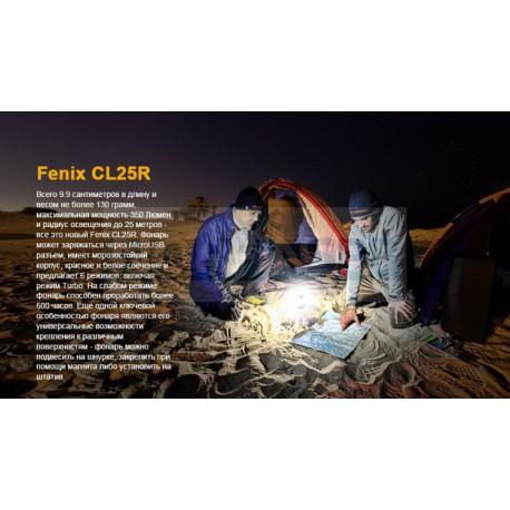 Фонарь Fenix CL25R, черный
