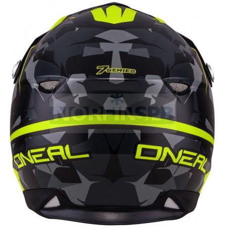 Кроссовый шлем 7Series CAMO серый/желтый