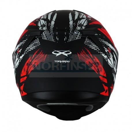 Снегоходный шлем XTR MODE1 Tornado красный  с электро стеклом