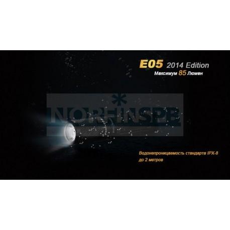 Фонарь Fenix E05 XP-E2 R3, черный