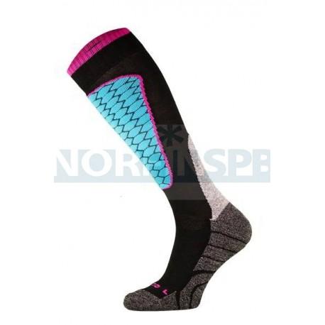 Носки Comodo SKI1-03, Black-turquesa
