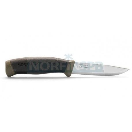 Нож Morakniv Companion MG, углеродистая сталь, хаки