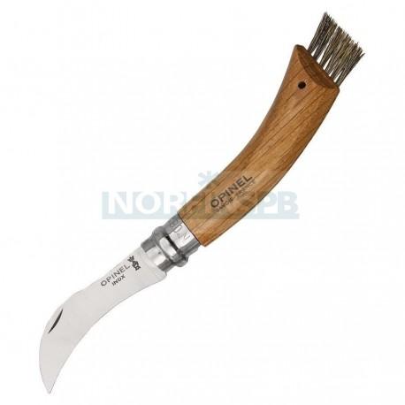 Нож грибника Opinel №8, нержавеющая сталь, рукоять дуб, чехол, деревянный футляр