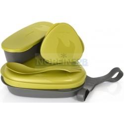 Контейнер для еды с набором посуды Light My Fire LunchKit, золотой