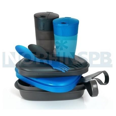 Набор посуды Light My Fire Pack n Eat Kit, голуб.металлик/черный металик