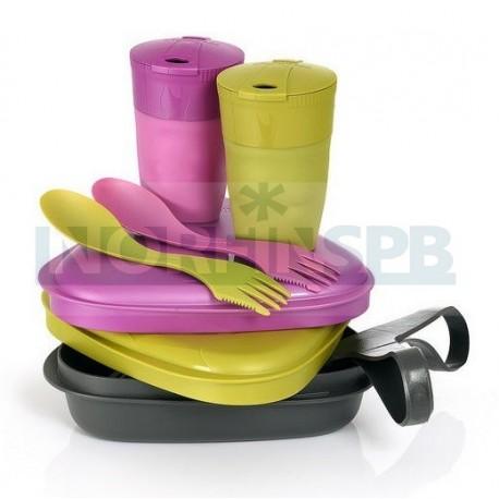 Набор посуды Light My Fire Pack n Eat Kit, золотой/розовый металлик