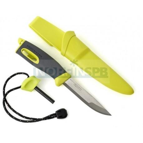 Нож для выживания c огнивом Light My Fire Swedish FireKnife (Mora), лайм