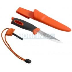 Нож для выживания c огнивом Light My Fire Swedish FireKnife (Mora), оранжевый