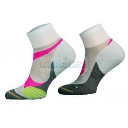 Носки Comodo RUN4 -04, white-pink
