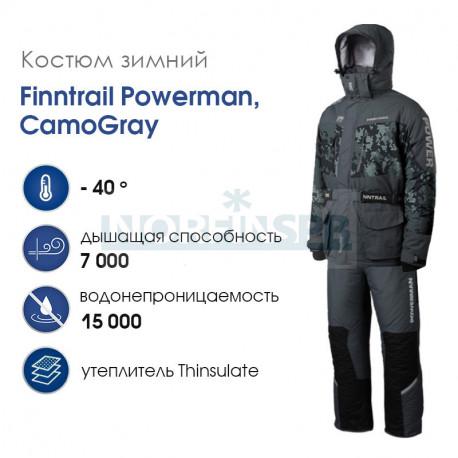 Зимний костюм Finntrail Powerman, CamoGray