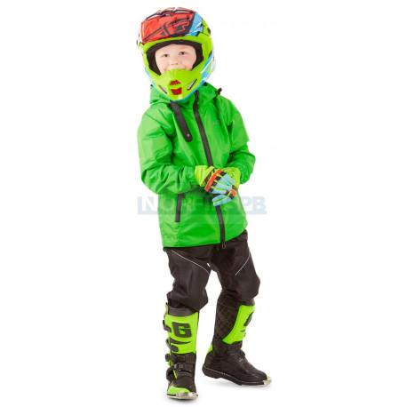 Детский комплект дождевой (куртка, брюки) Dragonfly EVO Kids, GREEN (мембрана)