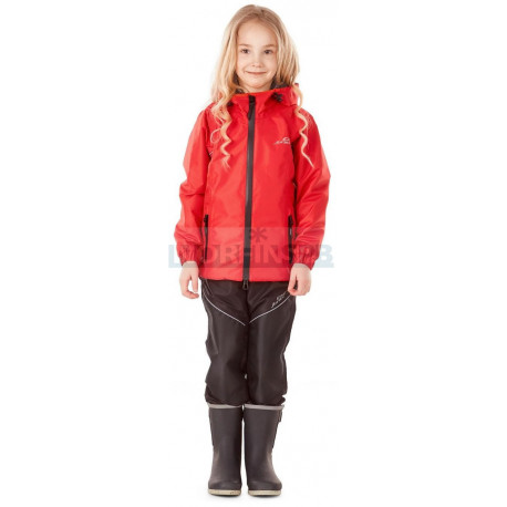 Детский комплект дождевой (куртка, брюки) Dragonfly EVO Kids, RED (мембрана)