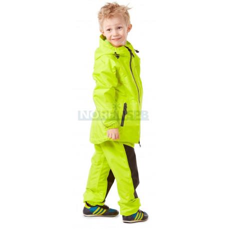 Детский комплект дождевой (куртка, брюки) Dragonfly EVO Kids, YELLOW (мембрана)